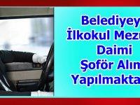 Mihalgazi Belediyesi otomobil şoförü,kamyon şoförü, tır şoförü alıyor