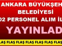 Ankara Belediyesi 2020 Personel Alımları
