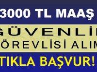 2790TL Maaş + 210 TL MULTİNET ile Özel Güvenlik Görevlisi iş ilanları 2019