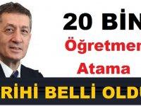 Son Dakika! 20 Bin Öğretmen Atama Tarihi Belli Oldu!