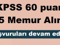 KPSS 60 puan Tarım Kredi 75 Memur Alımı Başvuruları devam ediyor