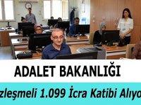 Adalet Bakanlığı İcra Dairesi personel alımı 1099 icra katibi alımı