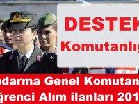 Jandarma Genel Komutanlığı Öğrenci Alım ilanları 2019