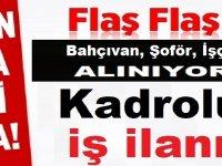 Antalya Kaş Belediyesi Beden işçisi , Kepçe operatörü, şoför ve Bahçıvan alıyor