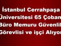 İstanbul Üniversitesi Çoban ,Büro Memuru Güvenlik Görevlisi ve işçi Alıyor