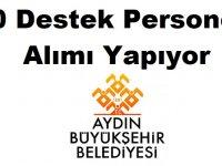 Aydın Büyükşehir Belediyesi 10 Destek Personeli Alımı