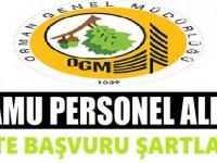 Tarım ve Orman Bakanlığına personel alımı 2019