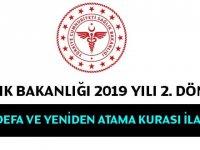 Sağlık Bakanlığı 2019 Yılı İlk Defa - Yeniden Atama Kurası İlanı