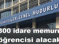 Adalet Bakanlığı 300 idare memuru öğrencisi alacak.