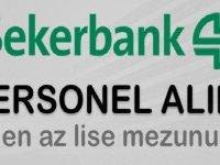 Şekerbank 14 iş ilanı şube ve hizmet birimlerine personel alımı