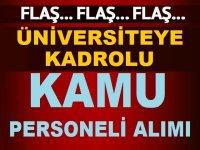 Cumhuriyet Üniversitesi kadrolu en az ilköğretim mezunu temizlik personeli alımı