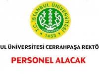 Cerrahpaşa Üniversitesi Personel Alımları 2020