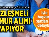 Tokat Gaziosmanpaşa Üniversitesi Sözleşmeli sağlık Memuru Alıyor