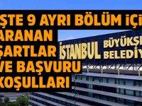 İstanbul Büyükşehir Belediye Başkanlığı'na  Personel Alım ilanı Yayınlandı!