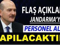 Soyludan Müjde! Jandarma'ya Personel Alımı Yapılacak