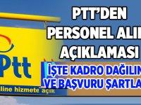 2020 PTT Personel Alımına Çıkılması Hakkında Açıklama