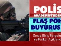 Polis Meslek Eğitim Merkezleri (POMEM) Giriş Sınavı Giriş Belgeleri