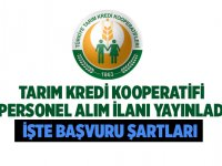 Tarım Kredi Kooperatifi Kooperatif Görevlisi ve Ziraat Mühendisi alımı yapılacağı açıklandı.