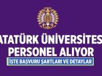 Atatürk Üniversitesi Rektörlüğü öğretim üyeleri alacaktır