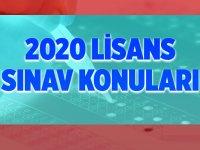 2020 KPSS Lisans Konuları Nelerdir