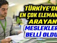 Türkiye'de en çok eleman arayan meslekler