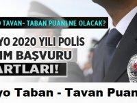 PMYO 2020 lise mezunu polis alımı şartları