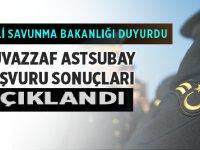 Muvazzaf Astsubay başvuru sonuçları açıklandı