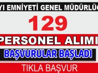 Kıyı Emniyeti Genel Müdürlüğü 129 personel alımı yapacak!