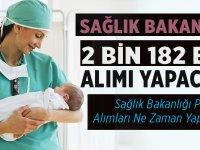 Sağlık Bakanlığı 2 bin 182 ebe alımı yapılacak