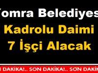 Trabzon Yomra Belediyesi En Az ilkokul Mezunu Kadrolu Daimi 7 İşçi Alacak