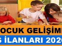 2020 Çocuk Gelişimi iş ilanları