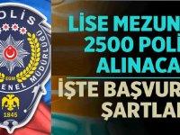 2020 yılı PMYO lise mezunu 2500 polis alımı başvuru şartları