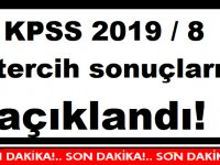 KPSS 2019 / 8 tercih sonuçları açıklandı!