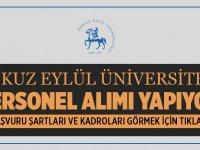 Dokuz Eylül Üniversitesi Yeni 2020 Personel Alıyor