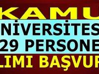 Kamu Üniversiteler Personel Alımları 2020