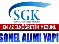SGK Torpilsiz En az ilkokul Mezunu Kamu Personeli Alımları