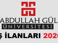 Abdullah Gül Üniversitesi Daimi Sürekli İşçi Alım İlanları 2020