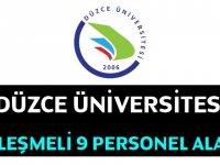 Düzce Üniversitesi Rektörlüğü 4/B Sözleşmeli Personel alım ilanı