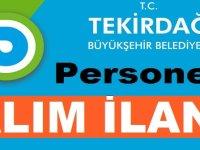 Tekirdağ Büyükşehir Belediyesi Personel Alımları 2020