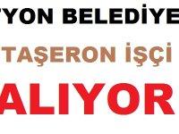 Afyon Belediyesi BELTAŞ Taşeron işçi ilanı yayınladı