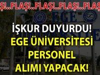 Ege Üniversitesi Personel Alımları 2020