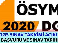DGS Sınav Takvimi 2020