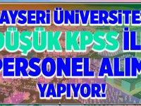 Kayseri Üniversitesi Kadrolu İşçi Memur Alımları 2020