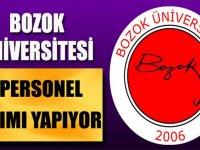 Bozok Üniversitesi Kadrolu Personel Alımları 2020