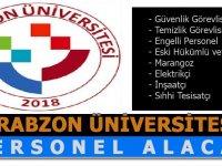 Trabzon Üniversitesi Sürekli Daimi Personel Alımları 2020