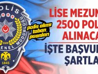 2 Bin 900 Polis Ve Bekçi Alımı Yapılacaktır