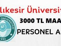 Balıkesir Üniversitesi Sağlık Personeli ilanları 2020