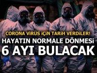 Corona virüs için tarih verdiler