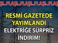 Elektriğe indirim 31 Mart 2020 Resmi Gazete