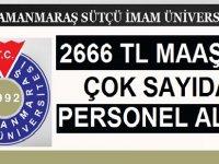 Kahramanmaraş Üniversitesi 119 Personel Alacaktır